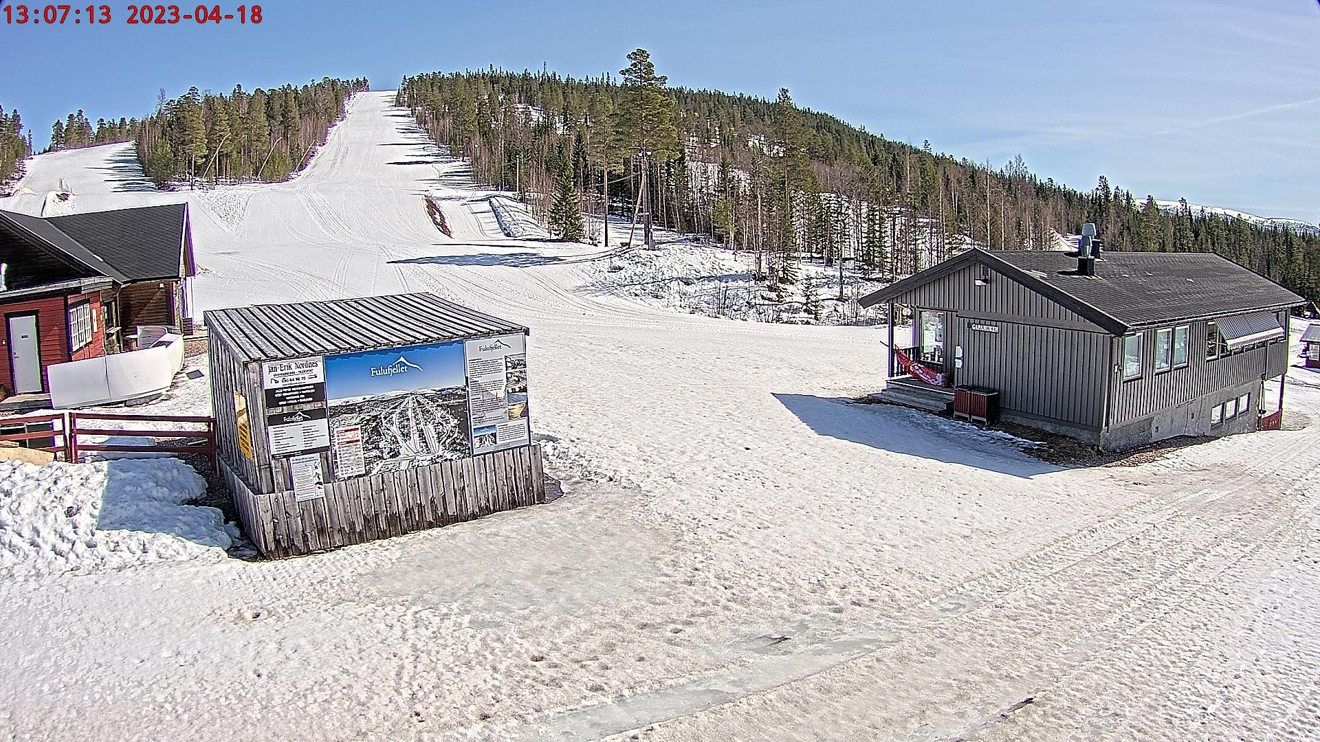 Webcam Fulufjellet Alpinsenter, Trysil, Hedmark, Norwegen